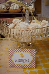 Yellow Vintage Baby Shower with So Many Darling Ideas via Kara's Party Ideas | KarasPartyIdeas.com #GenderNeutralBabyShower #VintageYellowShower #PartyIdeas #Supplies (7)