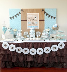 Cookies and Milk Birthday Party Baby Shower ideas via KarasPartyIdeas.com #milkandcookies #babyboyshower #partyideas #decor (6)