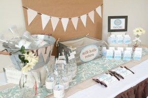 Cookies and Milk Birthday Party Baby Shower ideas via KarasPartyIdeas.com #milkandcookies #babyboyshower #partyideas #decor (2)