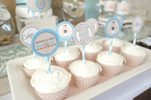 Cookies and Milk Birthday Party Baby Shower ideas via KarasPartyIdeas.com #milkandcookies #babyboyshower #partyideas #decor (14)