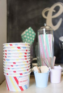Ice Cream themed birthday party FULL of CUTE IDEAS via Kara's Party Ideas | KarasPartyIdeas.com #icecreamshoppe #icecreambuffet #icecreamsocial #partyideas (9)