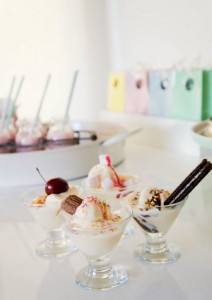 Ice Cream themed birthday party FULL of CUTE IDEAS via Kara's Party Ideas | KarasPartyIdeas.com #icecreamshoppe #icecreambuffet #icecreamsocial #partyideas (5)