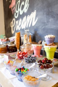 Ice Cream themed birthday party FULL of CUTE IDEAS via Kara's Party Ideas | KarasPartyIdeas.com #icecreamshoppe #icecreambuffet #icecreamsocial #partyideas (13)