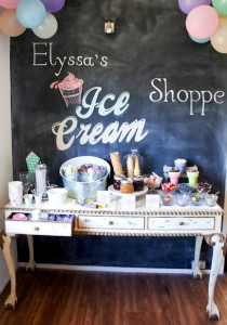 Ice Cream themed birthday party FULL of CUTE IDEAS via Kara's Party Ideas | KarasPartyIdeas.com #icecreamshoppe #icecreambuffet #icecreamsocial #partyideas (12)
