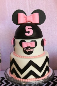 Minnie Mouse themed birthday party with Lots of Really Cute Ideas via Kara's Party Ideas | KarasPartyIdeas.com #minniemouseparty #minniemousecake #partyideas (6)