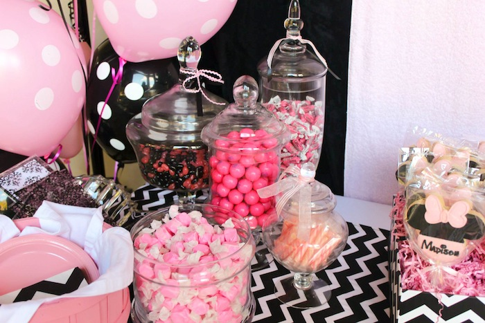 Karas Party Ideas Minnie Mouse themed birthday party via Karas