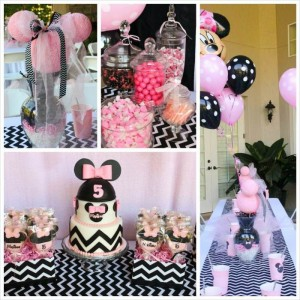 Minnie Mouse themed birthday party with Lots of Really Cute Ideas via Kara's Party Ideas | KarasPartyIdeas.com #minniemouseparty #minniemousecake #partyideas (10)