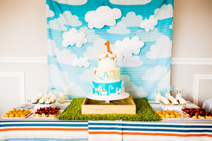 Kara 39 s party ideas modern boys will be boys 1st birthday for Baby boy 1st birthday decoration ideas