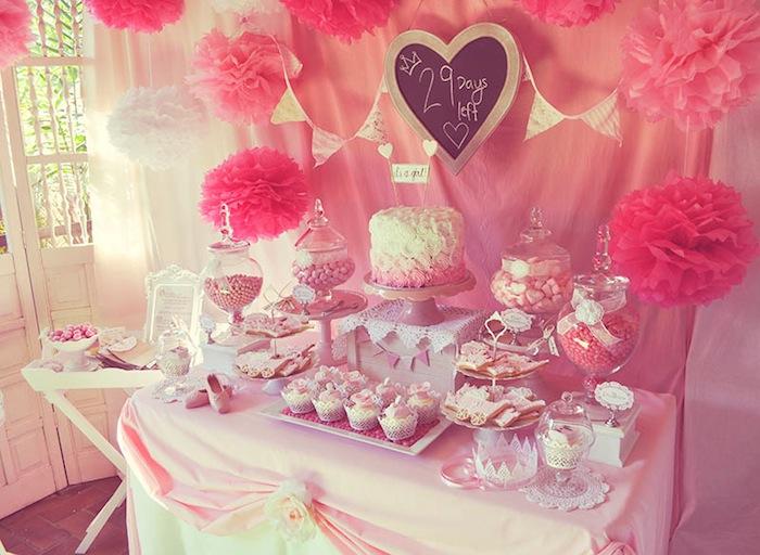 Baby Shower Pink Part - 17: Pink FairyTale Baby Shower Or Birthday Party Ideas Via Karau0027s Party Ideas  KarasPartyIdeas.com #
