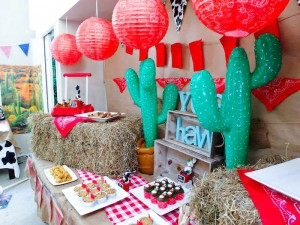 Yee Haw Cowboy Birthday Party with So Many Really Fun Ideas via Kara's Party Ideas KarasPartyIdeas.com #cowboyparty #westernparty #wildwestparty #cowboypartydecor #karaspartyideas (24)