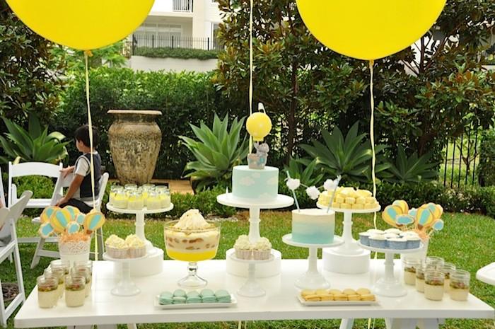 Karas Party Ideas Hot Air Balloon Themed 1st Birthday Party Full