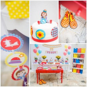 Little Clown themed 1st birthday party with So Many Fabulous Ideas via Kara's Party Ideas KarasPartyIdeas.com #clownparty #circuspartyideas #genderneutral #clowndecor #partydecor #karaspartyideas (32)