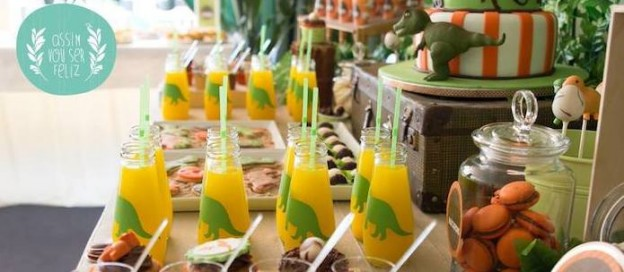dinosaur themed birthday party via Kara's Party Ideas KarasPartyIdeas.com #dinoparty #dinosaurparty