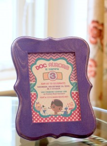 Doc McStuffins themed birthday party with Lota of Fun Ideas via Kara's Party Ideas | KarasPartyIdeas.com #doctorparty #girlpartyideas #docmcstuffinsparty #karaspartyideas (2)