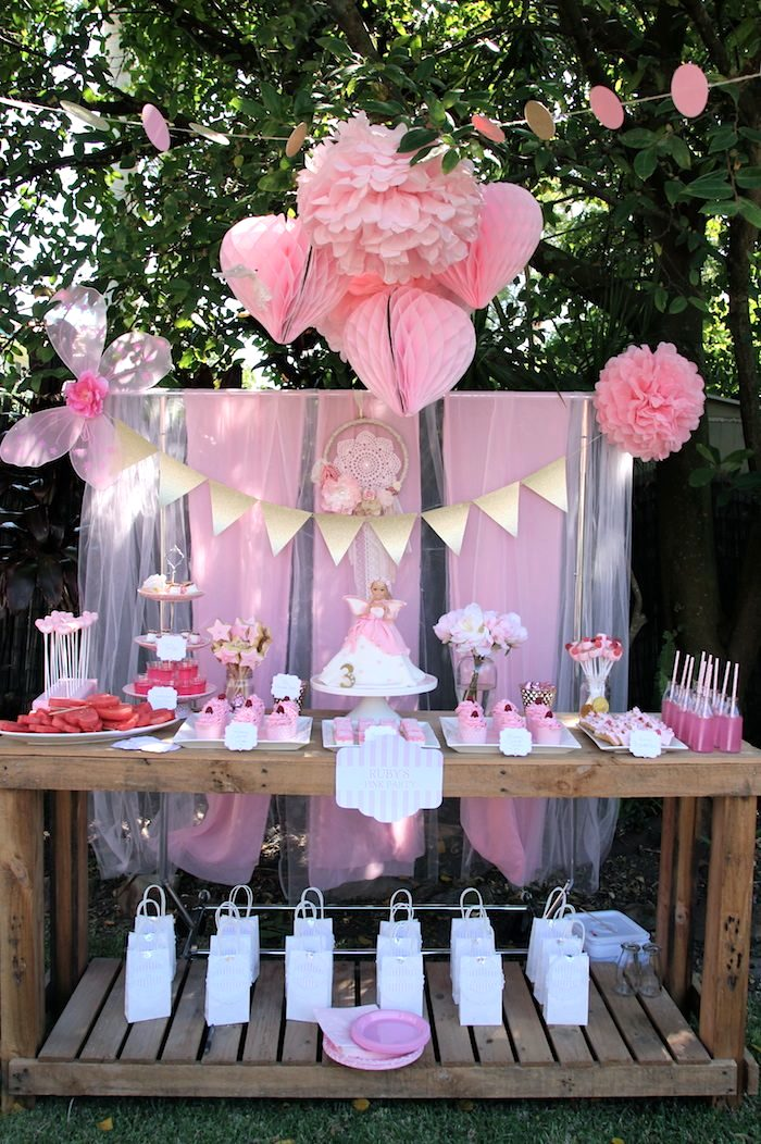Kara S Party Ideas Pink Fairy Themed Birthday Party With