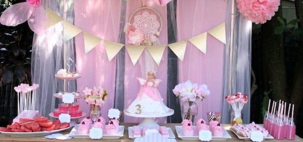 Pink Fairy Themed Birthday Party Full of Really Cute Ideas via Kara's Party Ideas KarasPartyIdeas.com #fairies #fairyparty #girlparty #fairypartydecor (1)