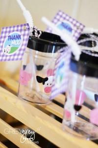 Purple Farm Party (3-I-E-I-O) with lots of Really Cute Ideas via Kara's Party Ideas Kara Allen KarasPartyIdeas.com #girlyfarmparty #westernparty #farmcake #partyideas (8)