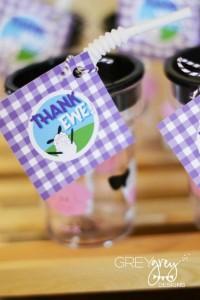 Purple Farm Party (3-I-E-I-O) with lots of Really Cute Ideas via Kara's Party Ideas Kara Allen KarasPartyIdeas.com #girlyfarmparty #westernparty #farmcake #partyideas (4)