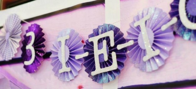 Purple Farm Party (3-I-E-I-O) with lots of Really Cute Ideas via Kara's Party Ideas Kara Allen KarasPartyIdeas.com #girlyfarmparty #westernparty #farmcake #partyideas (1)
