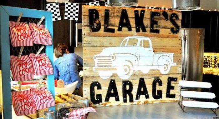 Kara S Party Ideas Vintage Garage First Birthday Party