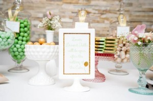All That Glitters Is Gold themed 1st Birthday Party with Such Cute Ideas via Kara's Party Ideas KarasPartyIdeas.com #goldandmintparty #golddesserttable #glitterparty #partyideas (33)