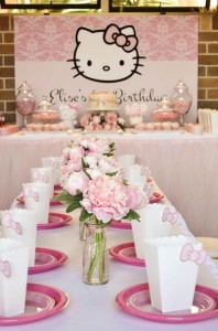 Pastel Pink Hello Kitty themed birthday party with lots of cute ideas via Kara's Party Ideas | KarasPartyIdeas.com #hellokitty #partyideas #decor (10)