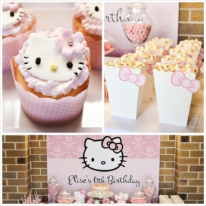 Pastel Pink Hello Kitty themed birthday party with lots of cute ideas via Kara's Party Ideas | KarasPartyIdeas.com #hellokitty #partyideas #decor (18)