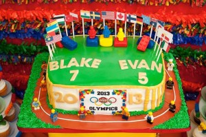 Lego Olympics themed birthday party with Lots of Awesome Ideas via Kara's Party Ideas Kara Allen KarasPartyIdeas.com #legoparty #legos #legocake #boyparty #karaspartyideas (8)