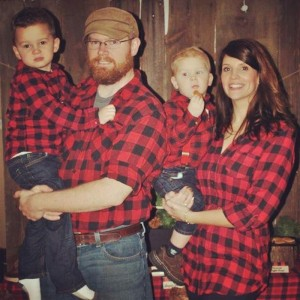 Little Lumberjack themed 2nd birthday party with SUCH CUTE IDEAS via Kara's Party Ideas Kara Allen KarasPartyIdeas.com #lumberjackparty #camping #outdoorsmen #campinkcakeideas #flannelprint (2)