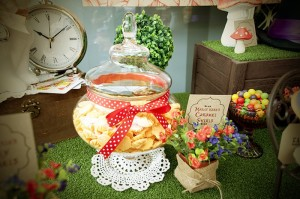 Mad Hatter Tea Party Baby Shower with SO MANY FABULOUS IDEAS via Kara's Party Ideas | KarasPartyIdeas.com #aliceinwonderland #aliceinwonderlandcookies #madhatterparty #partyideas (9)