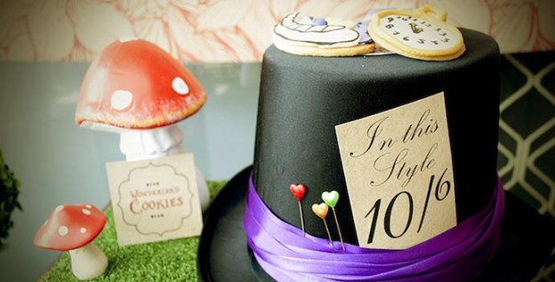 Mad Hatter Tea Party Baby Shower with SO MANY FABULOUS IDEAS via Kara's Party Ideas | KarasPartyIdeas.com #aliceinwonderland #aliceinwonderlandcookies #madhatterparty #partyideas (1)