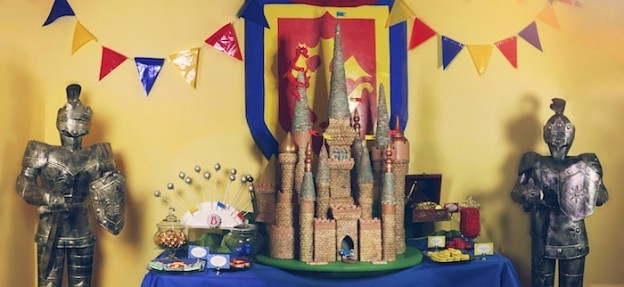 Medieval Knight Castle birthday party with Such Awesome Ideas via Kara's Party Ideas | KarasPartyIdeas.com - The Place For All Things Party #knightparty #castlecake #medievalparty #boyparty #partyideas (1)