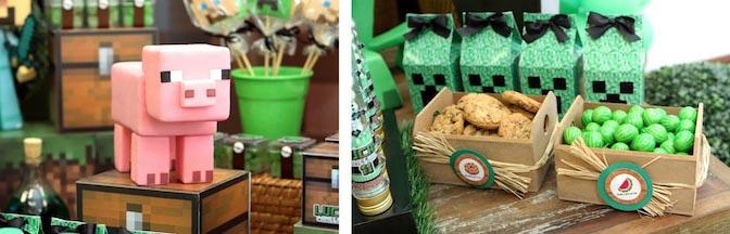 Kara S Party Ideas Minecraft Themed Tween Birthday Party