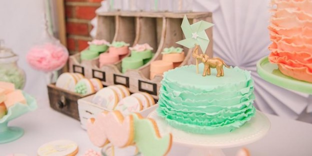 Vintage Peach and Mint Circus Party with Lots of Really Cute Ideas via Kara's Party Ideas Kara Allen KarasPartyIdeas.com #vintagecircusparty #circuscake (1)