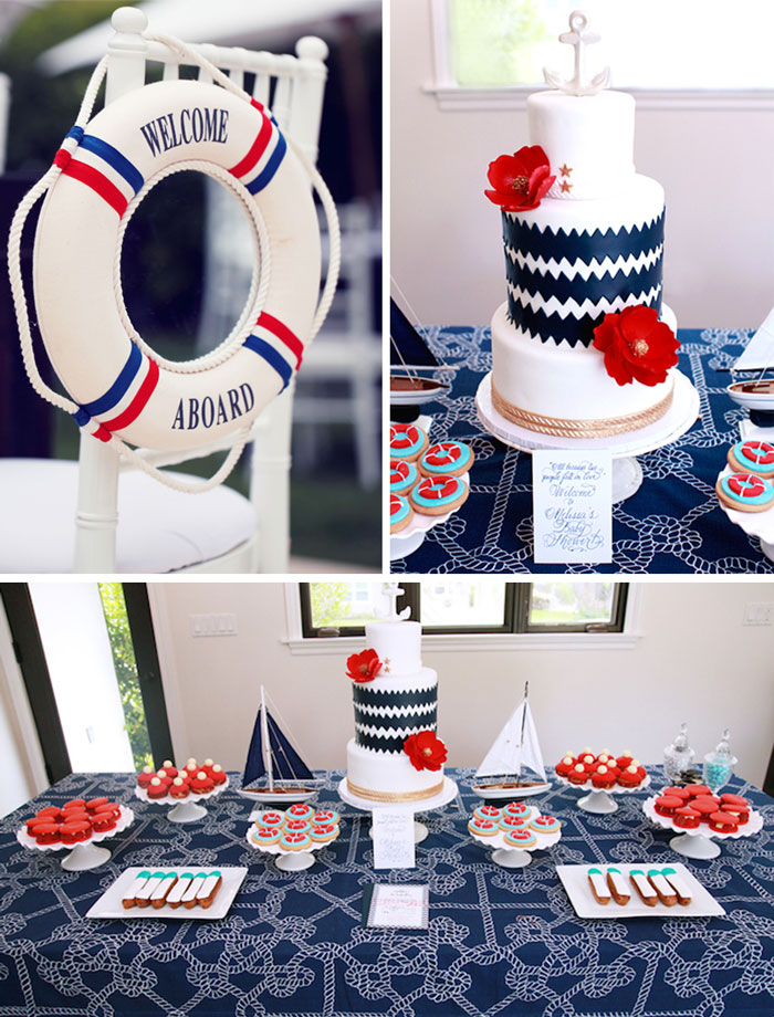 Kara's Party Ideas Nautical Baby Shower via Kara's Party ...