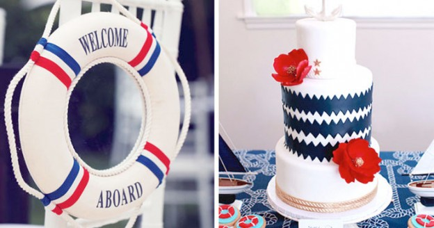 nautical themed baby shower ideas via Kara's party ideas karaspartyideas.com
