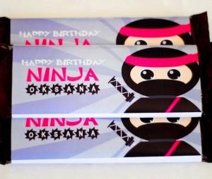 Pink Ninja themed birthday party with Really Cute Ideas via Kara's Party Ideas Kara Allen KarasPartyIdeas.com #ninjaparty #girlyninja #ninjaprintables #ninjapartyideas #karaspartyideas (3)