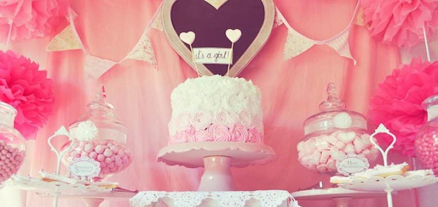 Pink FairyTale Baby Shower or Birthday Party ideas via Kara's Party Ideas KarasPartyIdeas.com #fairytalepartyideas #pinkparty #decor #cake (1)