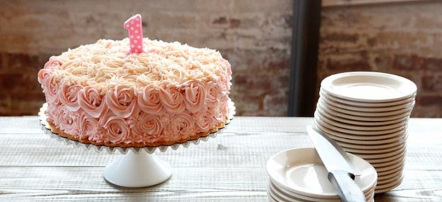 Pretty in Pink 1st Birthday Party with Lots of Cute Ideas via Kara's Party Ideas   KarasPartyIdeas.com #pinkparty #girlpartyideas #firstbirthday #pinkcake #pinkpartyideas (1)