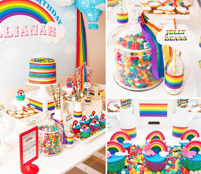 Kara's Party Ideas » Rainbow themed 1st birthday party ...