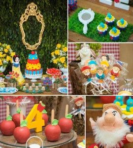 Snow White and the Seven Dwarfs themed birthday party with Lots of Really Great Ideas via Kara's Party Ideas | KarasPartyIdeas.com #snowwhiteparty #sevendwarfs #disneyprincess #partydecor #karaspartyideas (28)