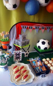Soccer themed birthday party with Lots of Awesome Ideas via Kara's Party Ideas Kara Allen KarasPartyIdeas.com #soccerparty #soccercake #sportsparty #fifthbirthday #boyparty #partyideas (7)