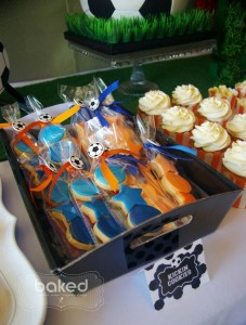 Soccer themed birthday party with Lots of Awesome Ideas via Kara's Party Ideas Kara Allen KarasPartyIdeas.com #soccerparty #soccercake #sportsparty #fifthbirthday #boyparty #partyideas (6)