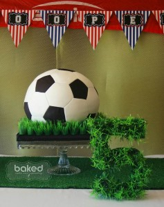 Soccer themed birthday party with Lots of Awesome Ideas via Kara's Party Ideas Kara Allen KarasPartyIdeas.com #soccerparty #soccercake #sportsparty #fifthbirthday #boyparty #partyideas (3)
