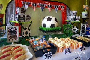 Soccer themed birthday party with Lots of Awesome Ideas via Kara's Party Ideas Kara Allen KarasPartyIdeas.com #soccerparty #soccercake #sportsparty #fifthbirthday #boyparty #partyideas (15)