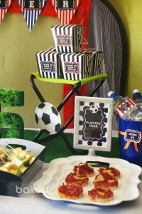 Soccer themed birthday party with Lots of Awesome Ideas via Kara's Party Ideas Kara Allen KarasPartyIdeas.com #soccerparty #soccercake #sportsparty #fifthbirthday #boyparty #partyideas (14)