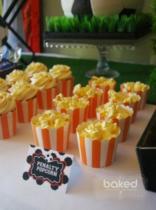Soccer themed birthday party with Lots of Awesome Ideas via Kara's Party Ideas Kara Allen KarasPartyIdeas.com #soccerparty #soccercake #sportsparty #fifthbirthday #boyparty #partyideas (13)