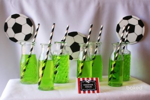 Soccer themed birthday party with Lots of Awesome Ideas via Kara's Party Ideas Kara Allen KarasPartyIdeas.com #soccerparty #soccercake #sportsparty #fifthbirthday #boyparty #partyideas (12)
