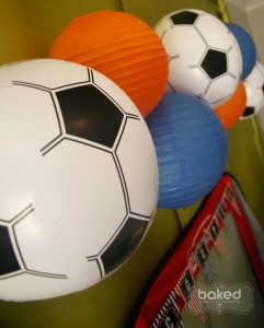 Soccer themed birthday party with Lots of Awesome Ideas via Kara's Party Ideas Kara Allen KarasPartyIdeas.com #soccerparty #soccercake #sportsparty #fifthbirthday #boyparty #partyideas (10)