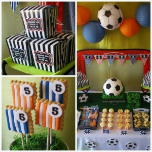 Soccer themed birthday party with Lots of Awesome Ideas via Kara's Party Ideas Kara Allen KarasPartyIdeas.com #soccerparty #soccercake #sportsparty #fifthbirthday #boyparty #partyideas (17)